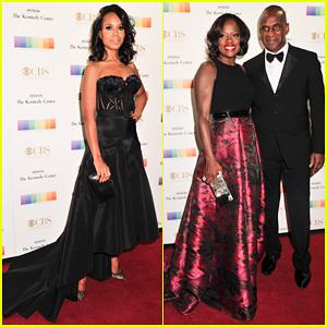 Kerry Washington & Viola Davis Celebrate Honorees At Kennedy Center Gala 2015!