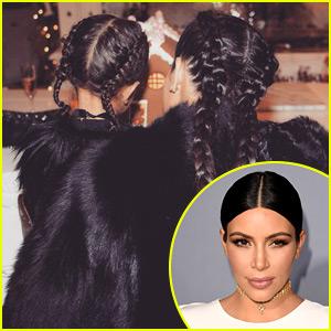 Kim Kardashian & North West Had Matching Christmas Braids!