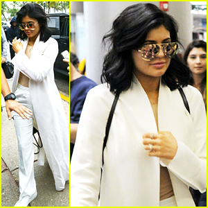 Kylie Jenner Wows In All White After Arriving in Miami For Art Basel