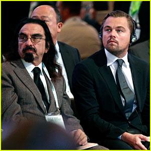 Leonardo DiCaprio & His Dad Attend Climate Change Summit