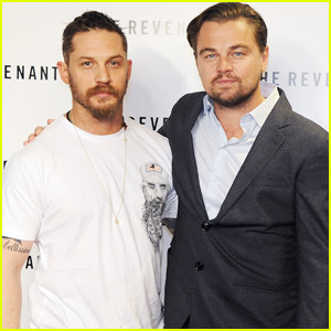 Leonardo DiCaprio & Tom Hardy Team Up for 'The Revenant' Screening in London