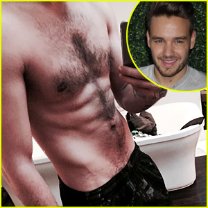 Liam Payne's Shirtless Selfie Puts His Rock Hard Abs on Display!