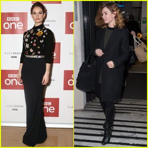 Lily James Steps Up Her Style for 'War & Peace' Photo Call