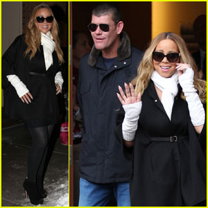 Mariah Carey & Boyfriend James Packer Arrive in Aspen