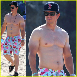 Mark Wahlberg Puts His Farmer's Tan on Display in These Shirtless Pics!