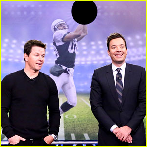 Mark Wahlberg Plays Random Object Football Toss on 'Fallon'