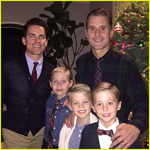 Matt Bomer Shares Adorable Family Photo with Husband Simon Halls & Their 3 Sons!
