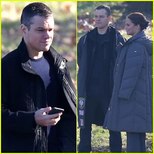 Matt Damon & Alicia Vikander Share Laughs on 'Bourne' Set