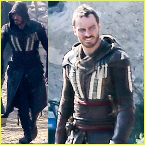 Michael Fassbender Films 'Assassin's Creed' in Spain!