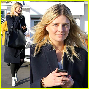 Mischa Barton Gets Festive With Her Furry Friend