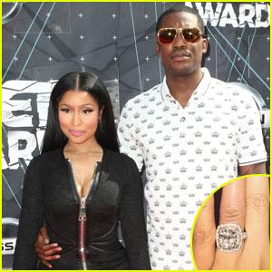 Nicki Minaj Sparks Engagement Rumors With Huge Diamond Ring From Meek Mill
