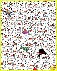 Panda Hidden Among Snowmen Puzzle Is Driving the Internet Nuts!