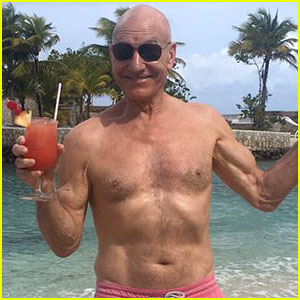 Patrick Stewart Goes Shirtless & Still Looks Very Fit at 75!