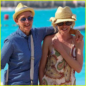 Ellen DeGeneres & Portia de Rossi Celebrate Christmas in St. Barts