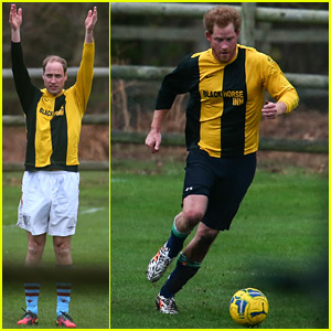 Prince William & Prince Harry Compete in Annual Christmas Eve Soccer Match!