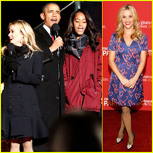 Reese Witherspoon Helps Obama Family Kick Off Holiday Season At National Christmas Tree Lighting Ceremony!