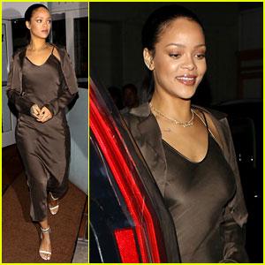 Rihanna Grabs Dinner at Her Favorite Spot After Diamond Ball