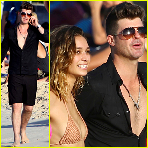 Robin Thicke & Girlfriend April Love Geary Are Lucky in Love