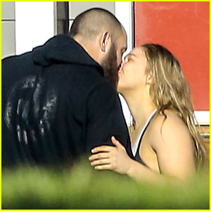 Ronda Rousey Shares Sweet Kisses with Beau Travis Browne