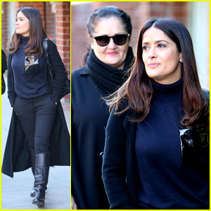 Salma Hayek Goes Bare & Natural in Makeup Free Selfies