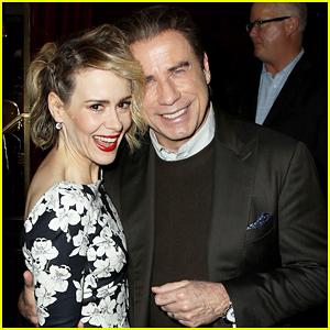 Sarah Paulson & John Travolta Buddy Up At Special 'American Crime Story' Screening!