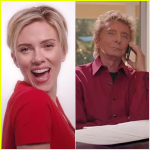 Scarlett Johansson is Barry Manilow's Muse in New (Red) Campaign - Watch Now!