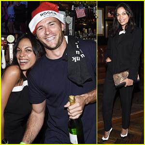 Scott Eastwood & Rosario Dawson Help Geoff Stults At Birthday Party Fundraiser!