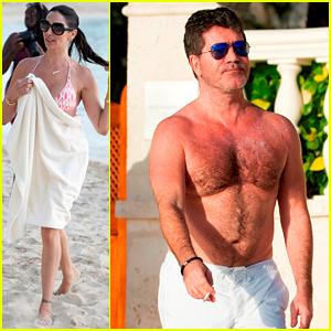 Simon Cowell & Lauren Silverman Cruise the Water on Jet Skis