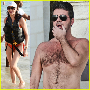 Simon Cowell & Lauren Silverman Kick Off Holidays In Barbados!
