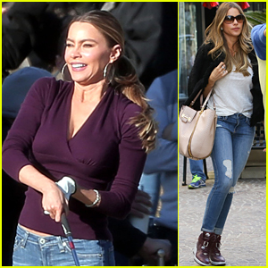 Sofia Vergara Gets Back to Work with Her 'Family'