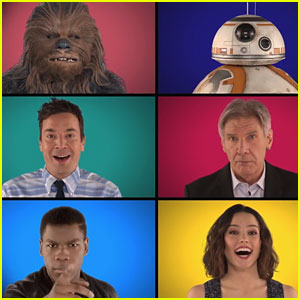 'Star Wars' Cast & Jimmy Fallon Sing Theme Song A Capella!
