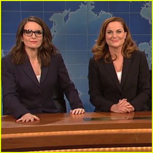 Tina Fey & Amy Poehler Reunite on Saturday Night Live's 'Weekend Update' Desk - Watch All the Videos!