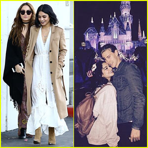 Vanessa Hudgens & Austin Butler Celebrate Christmas Eve at Disneyland!