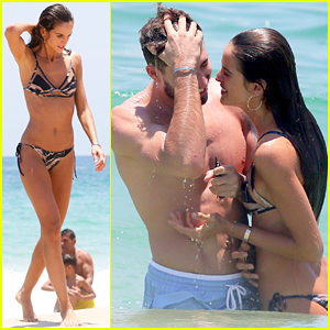 Victoria's Secret Model Izabel Goulart Packs on the PDA with Kevin Trapp in Rio!