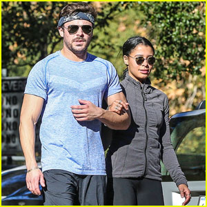 Zac Efron & Sami Miro Sweat It Out Together on a Run!