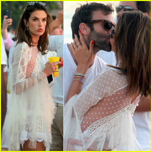 Alessandra Ambrosio Gets a New Year's Kiss in Brazil