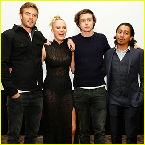Alex Roe & Nick Robinson Hit Up 'The 5th Wave' Just Jared Screening!