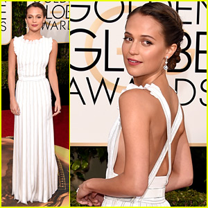 Alicia Vikander Arrives For Her Double-Nomination Night at the Golden Globes 2016!