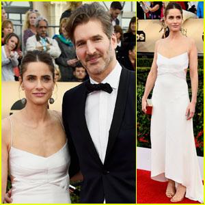 Amanda Peet & Husband David Benioff Hit SAG Awards 2016