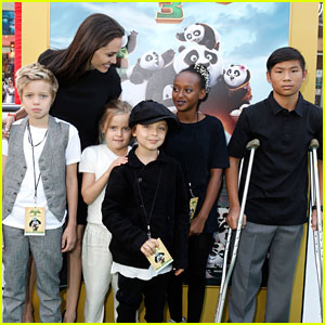 Angelina Jolie's Kids Look So Grown Up at 'Kung Fu Panda 3' Premiere