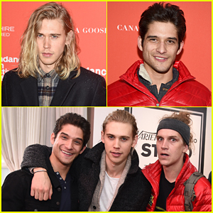 Austin Butler & Tyler Posey Buddy Up At 'Yoga Hosers' Sundance 2016 Premiere!