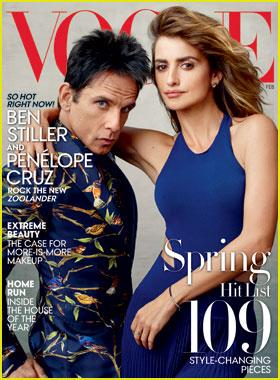 Ben Stiller Stars as Derek Zoolander on First 'Vogue' Cover With Penelope Cruz