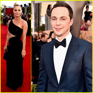 Kaley Cuoco, Jim Parsons & 'Big Bang Theory' Cast Arrive at SAG Awards 2016