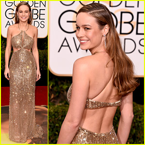 Brie Larson Is the Golden Girl on Golden Globes 2016 Red Carpet