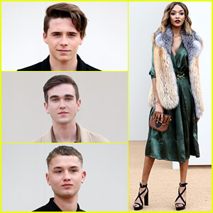 Brooklyn Beckham Brings His Fashion A Game to Burberry Show!