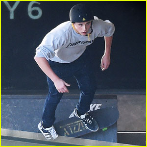 Brooklyn Beckham Shows Off Serious Skateboarding Skills