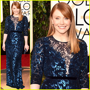 Bryce Dallas Howard Is a Blue Beauty at Golden Globes 2016!
