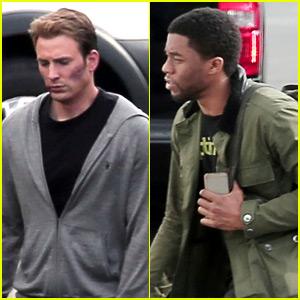 Chris Evans Is All Bruised for 'Captain America: Civil War' Shoot