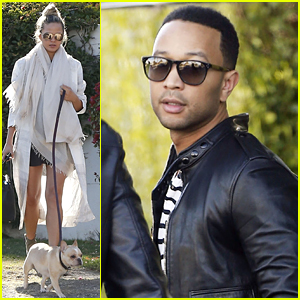 Chrissy Teigen & John Legend Take Pippa to Palm Springs!