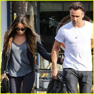 Colin Farrell Holds Hands With Mystery Girl in West Hollywood